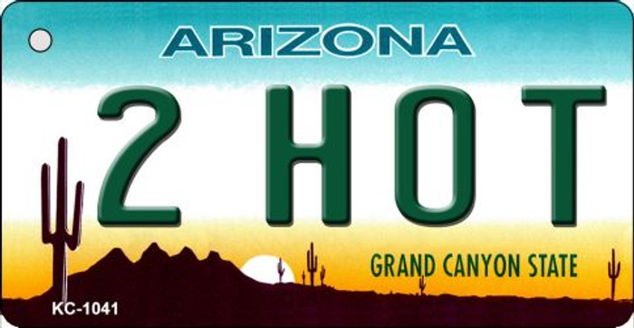 2 Hot Arizona State License Plate Key Chain KC-1041