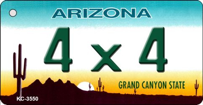 4 x 4 Arizona State License Plate Key Chain KC-3550