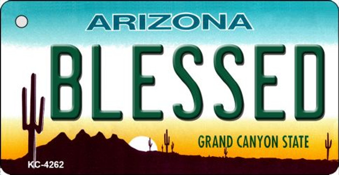 Blessed Arizona State License Plate Key Chain KC-4262