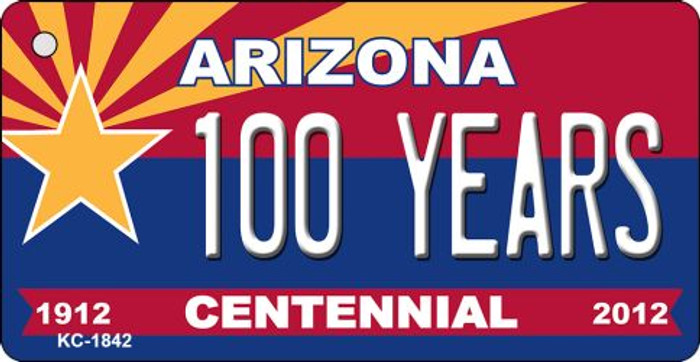 100 Years Arizona Centennial State License Plate Key Chain KC-1842