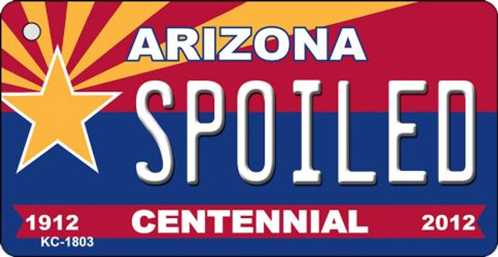 Spoiled Arizona Centennial State License Plate Key Chain KC-1803