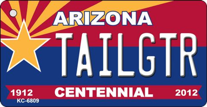 Tailgtr Arizona Centennial State License Plate Key Chain KC-6809