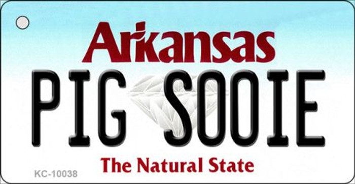 Pig Soonie Arkansas State License Plate Key Chain KC-10038