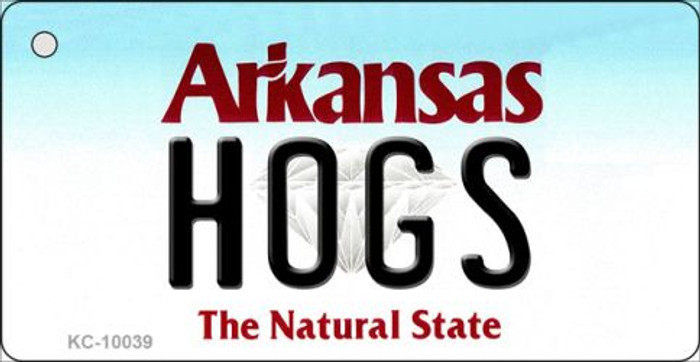 Hogs Arkansas State License Plate Key Chain KC-10039