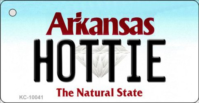 Hottie Arkansas State License Plate Key Chain KC-10041
