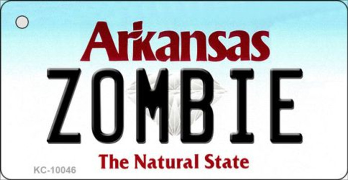 Zombie Arkansas State License Plate Key Chain KC-10046