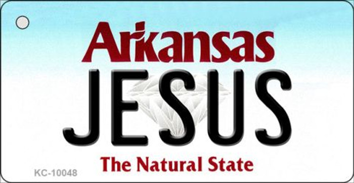 Jesus Arkansas State License Plate Key Chain KC-10048