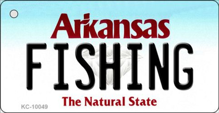 Fishing Arkansas State License Plate Key Chain KC-10049