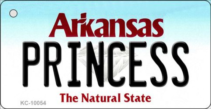 Princess Arkansas State License Plate Key Chain KC-10054