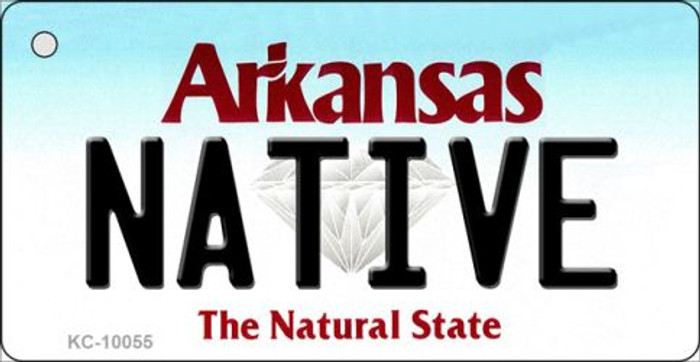 Native Arkansas State License Plate Key Chain KC-10055