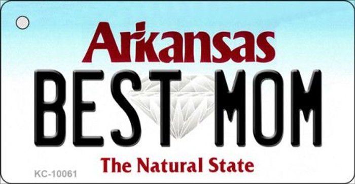 Best Mom Arkansas State License Plate Key Chain KC-10061