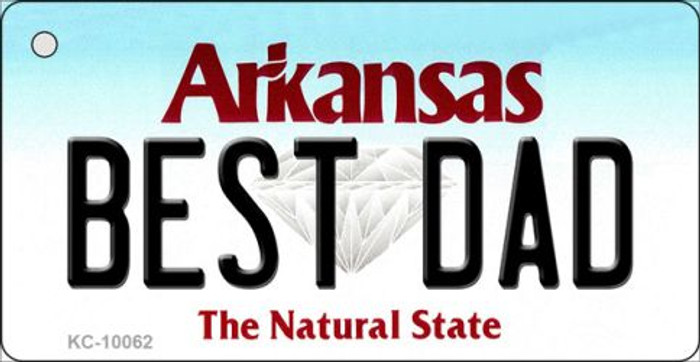 Best Dad Arkansas State License Plate Key Chain KC-10062