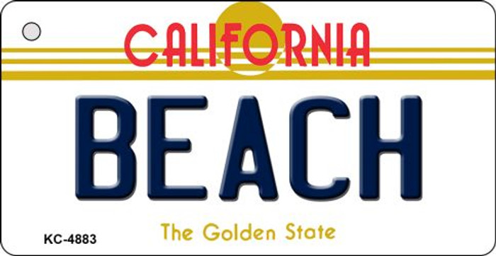 Beach California State License Plate Key Chain KC-4883