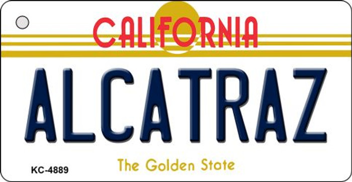 Alcatraz California State License Plate Key Chain KC-4889