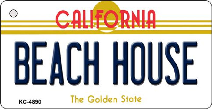 Beach House California State License Plate Key Chain KC-4890