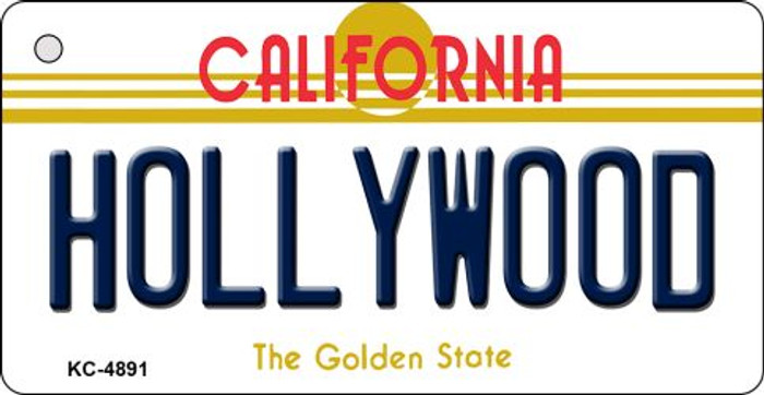 Hollywood California State License Plate Key Chain KC-4891