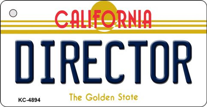 Director California State License Plate Key Chain KC-4894