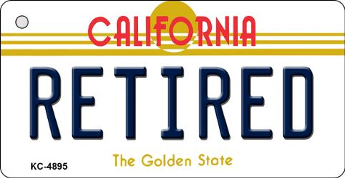 Retired California State License Plate Key Chain KC-4895