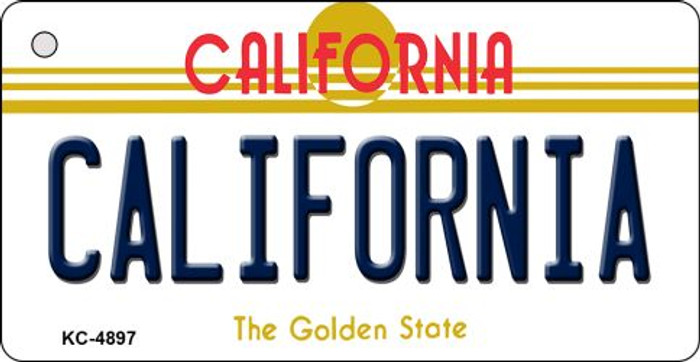 California California State License Plate Key Chain KC-4897