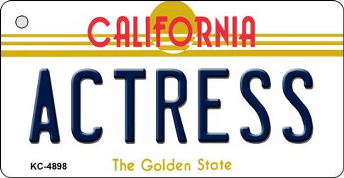 Actress California State License Plate Key Chain KC-4898