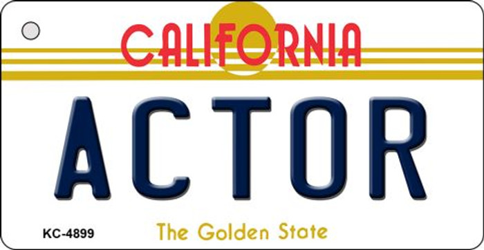 Actor California State License Plate Key Chain KC-4899