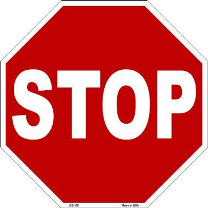 Stop Metal Novelty Octagon Stop Sign BS-180