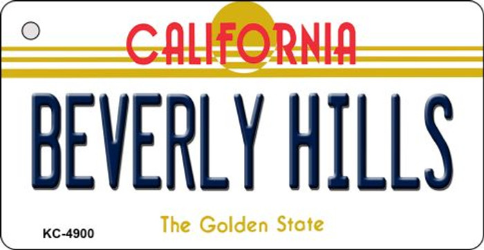 Beverly Hills California State License Plate Key Chain KC-4900