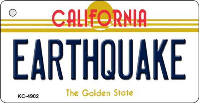 Earthquake California State License Plate Key Chain KC-4902