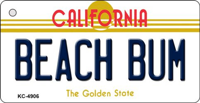 Beach Bum California State License Plate Key Chain KC-4906