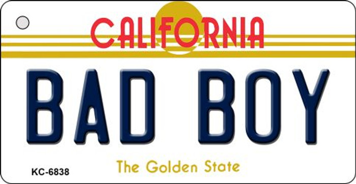 Bad Boy California State License Plate Key Chain KC-6838