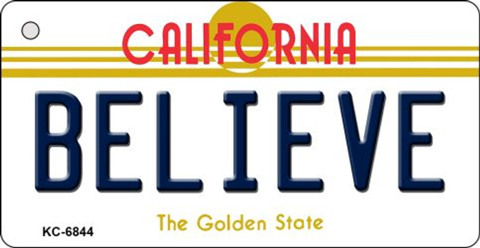 Believe California State License Plate Key Chain KC-6844
