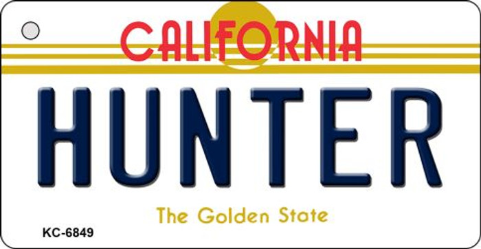Hunter California State License Plate Key Chain KC-6849