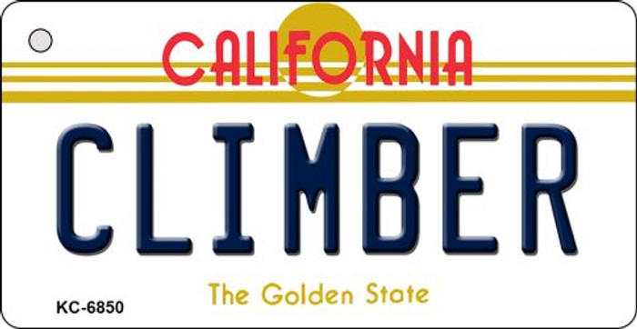 Climber California State License Plate Key Chain KC-6850