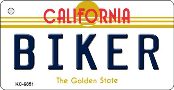 Biker California State License Plate Key Chain KC-6851