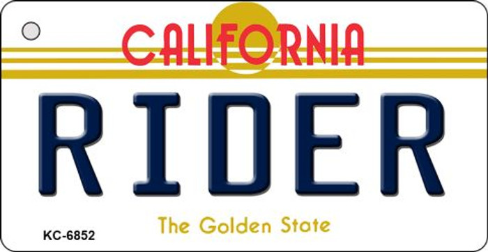 Rider California State License Plate Key Chain KC-6852