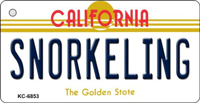Snorkeling California State License Plate Key Chain KC-6853