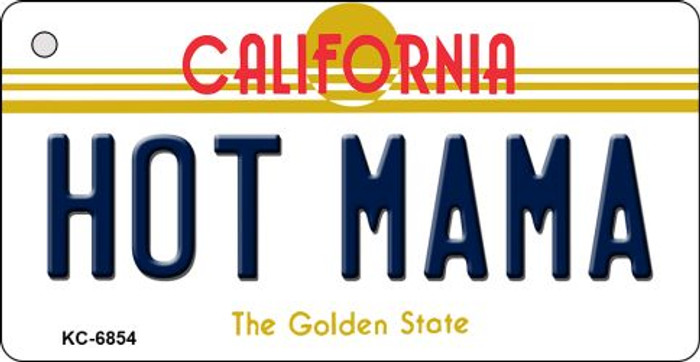 Hot Mama California State License Plate Key Chain KC-6854