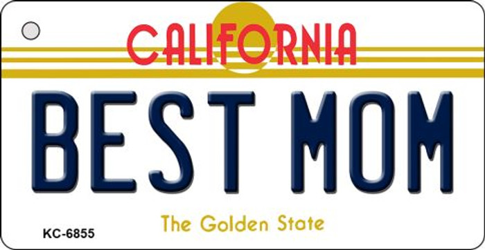 Best Mom California State License Plate Key Chain KC-6855