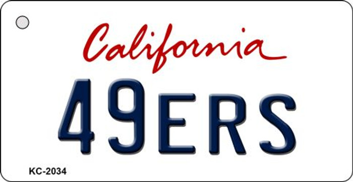 49ers California State License Plate Key Chain KC-2034