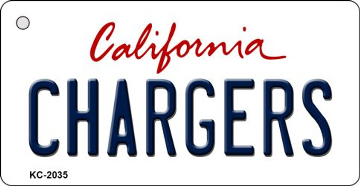 Chargers California State License Plate Key Chain KC-2035