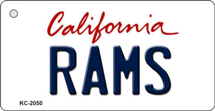 Rams California State License Plate Key Chain KC-2050