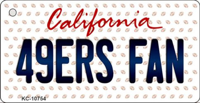 49ers Fan California State License Plate Key Chain KC-10754