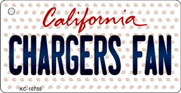 Chargers Fan California State License Plate Key Chain KC-10755