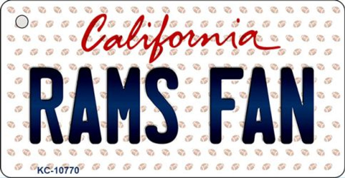 Rams Fan California State License Plate Key Chain KC-10770