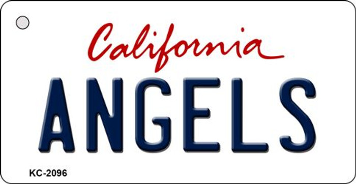 Angels California State License Plate Key Chain KC-2096