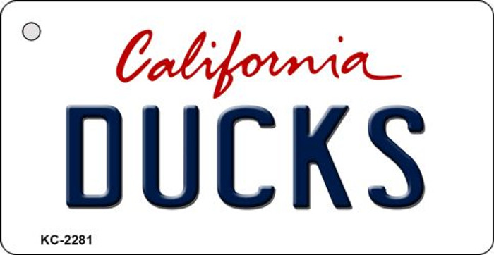 Ducks California State License Plate Key Chain KC-2281