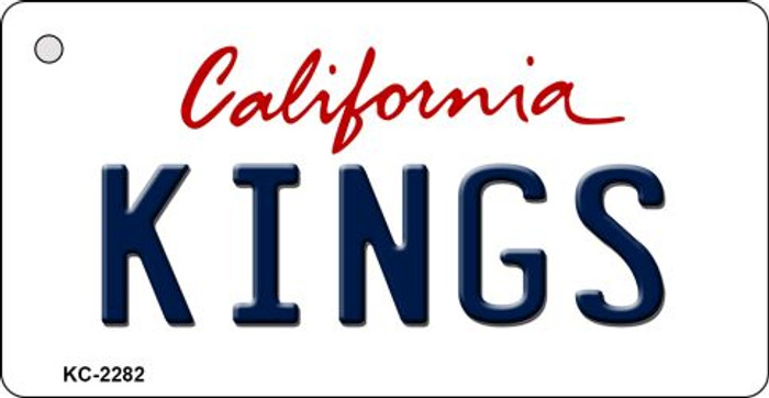 Kings California State License Plate Key Chain KC-2282