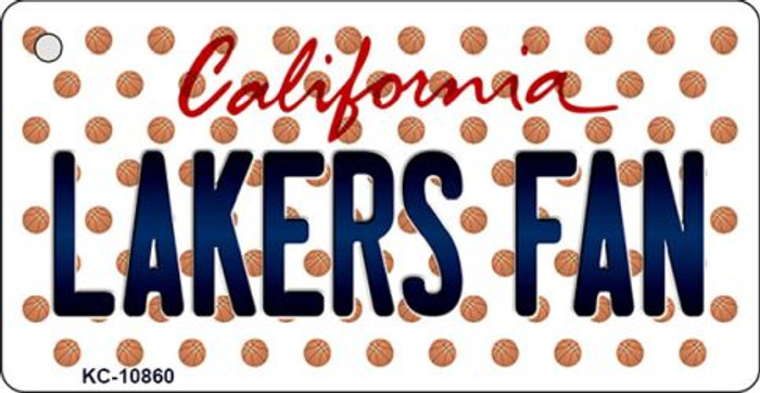 Lakers Fan California State License Plate Key Chain KC-10860