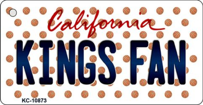 Kings Fan California State License Plate Key Chain KC-10873