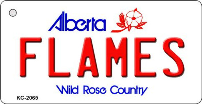 Flames Alberta State License Plate Key Chain KC-2065